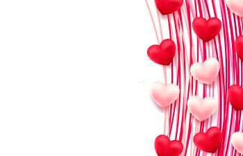 red and white hearts decoration